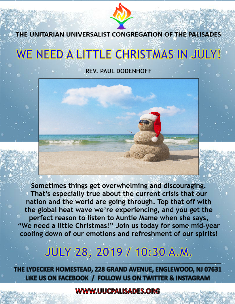 When Is Little Christmas.We Need A Little Christmas In July Rev Paul Dodenhoff